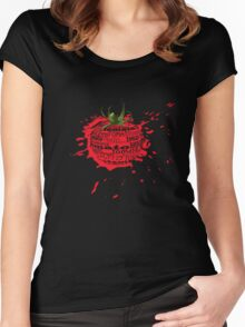 tomato splat Women's Fitted Scoop T-Shirt