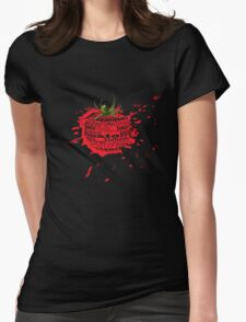 tomato splat Womens Fitted T-Shirt
