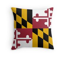 Flag of Maryland Throw Pillow
