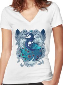 Hands of Creation Women's Fitted V-Neck T-Shirt