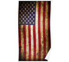 Vintage Patriotic Rustic American Flag Poster