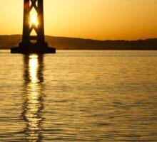 Framing the Sunrise at San Francisco's Bay Bridge in California Sticker