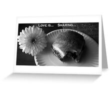 Love Is... Sharing... Greeting Card