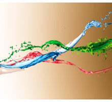 creative paint splash digital photography Sticker