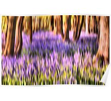 The abstract bluebell Poster