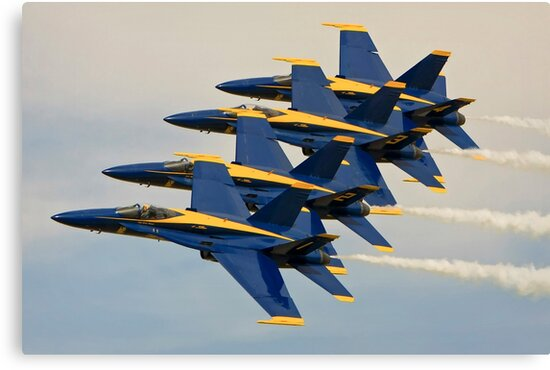 The Blue Angels by Wojciech Dabrowski