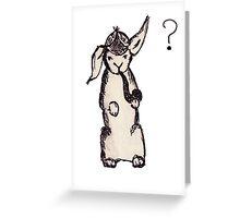 Sherlock Bunny Holmes Greeting Card