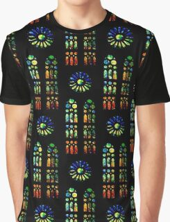 Stained Glass Windows - Sagrada Familia, Barcelona, Spain Graphic T-Shirt