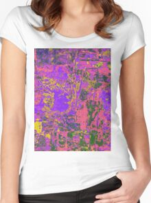 1053 Abstract Thought Women's Fitted Scoop T-Shirt
