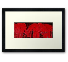 Dancing with Red Elephants Framed Print