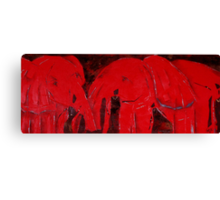 Dancing with Red Elephants Canvas Print