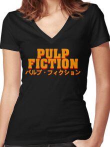 パルプ・フィクション Women's Fitted V-Neck T-Shirt