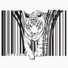 endangered TIGER BARCODE illustration by SFDesignstudio