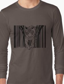 endangered TIGER BARCODE illustration Long Sleeve T-Shirt