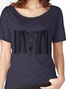 endangered TIGER BARCODE illustration Women's Relaxed Fit T-Shirt