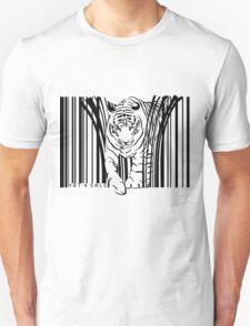 endangered TIGER BARCODE illustration T-Shirt