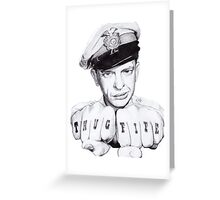 Barney Fife meets Thug Life Greeting Card