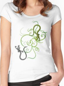 gecko duality Women's Fitted Scoop T-Shirt