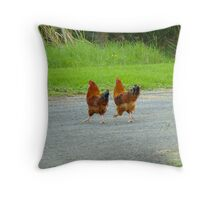 Tell Me Again Why We're Crossing This Road! Throw Pillow