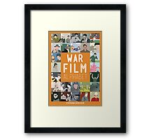 War Film Alphabet Framed Print
