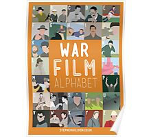 War Film Alphabet Poster