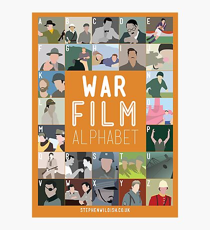 War Film Alphabet Photographic Print