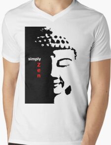 Simply Zen 2 Mens V-Neck T-Shirt