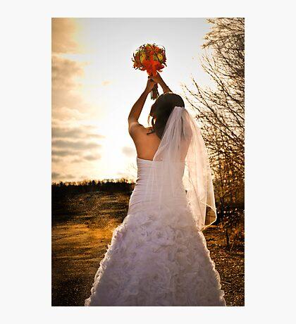 Glowing bride Photographic Print