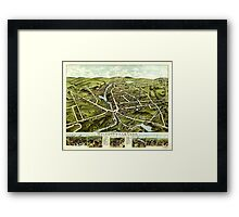 Panoramic Maps Wolcottville Conn Framed Print