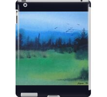 blue skies landscape water-color stylized painting iPad Case/Skin