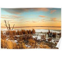 Sunset at Emiquon Poster