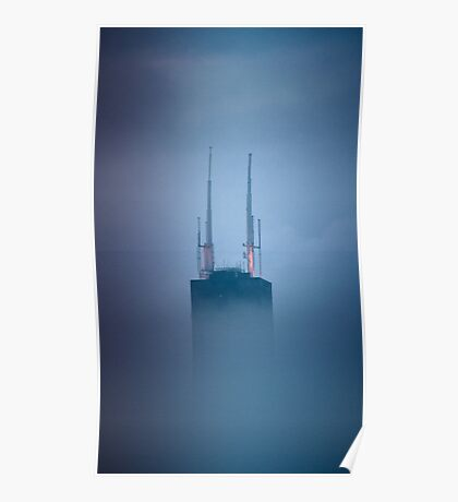 Sears Tower in Fog - 2 Poster