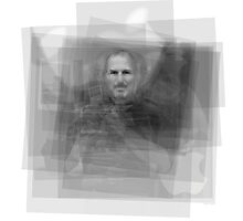Steve Jobs Overlay Photographic Print