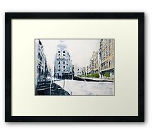 Madrid - Gran Via Framed Print
