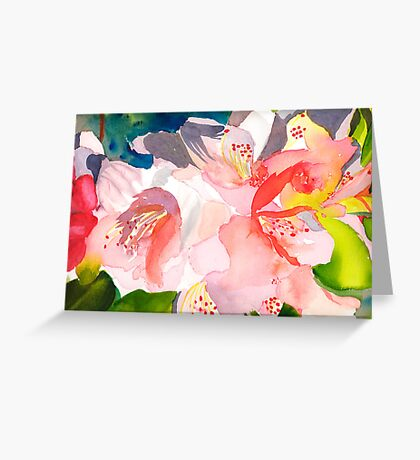 Rhododendron in Peach Greeting Card
