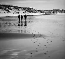 Dunnet Beach, Boxing Day 2010, Caithness, Scottish Highlands by Iain MacLean