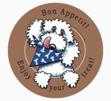 Dog Bon Appetit! Gourmet Pet Treats Thank You Stickers {taupe} by offleashart