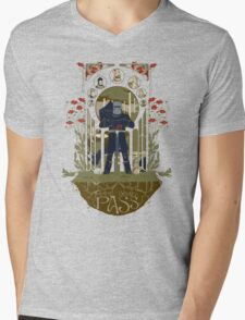 None Shall Pass! Mens V-Neck T-Shirt