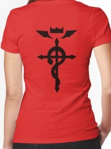 Edward Elric Symbol Women's Fitted V-Neck T-Shirt