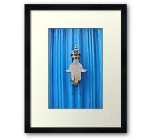 Blue Moroccan Door Framed Print