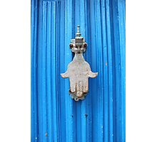 Blue Moroccan Door Photographic Print
