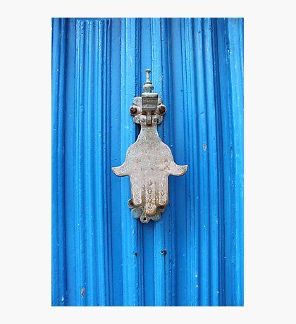 Blue Moroccan Door Photographic Print