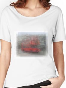 Red London Bus Overlay Women's Relaxed Fit T-Shirt