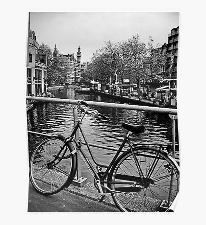 Bike Riding Around Amsterdam Poster