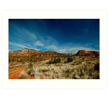 Sedona Rocks Art Print