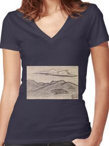 Dark Skies Women's Fitted V-Neck T-Shirt