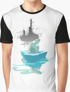 global warming illustration / print : NEED MORE ICE NOT OIL Graphic T-Shirt