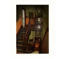 The Haunted Staircase. Art Print