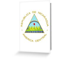 Coat of Arms of Nicaragua  Greeting Card