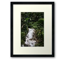 Jamaica waterfall Framed Print